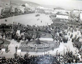 Çanakkale Cumhuriyet Meydanında 18 Mart Töreni. 1968 Yılı