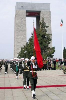 Çanakkale Şehitler Abidesi'nde Düzenlenen Tören
