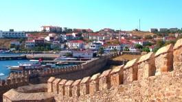 Bozcaada Kalesi'nden İlçe Merkezinin Görünümü
