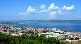 Çanakkale Onsekiz Mart Üniversitesi'nden Çanakkale Boğazı'nın Görünümü