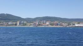 Eceabat İlçesinin Denizden Görünümü