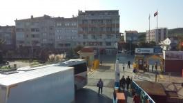 Feribottan Eceabat'ın Görünümü