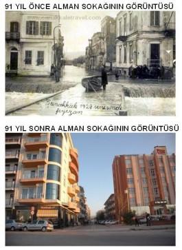 91 Yıl Önce ve Sonra Alman Sokağı Civarı
