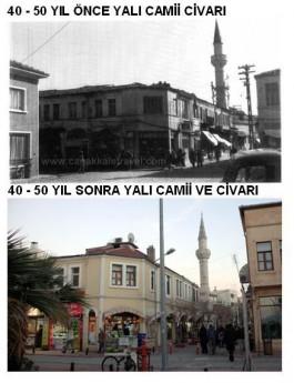 40-50 Yıl Önce ve Sonra Yalı Camii Civarı