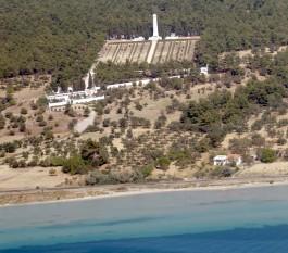 Gelibolu Yarımadası'ndaki Fransız Anıtı'nın Havadan Görünümü