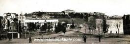 Çanakkale 1930'lu  Yıllar. Hastanebayırı ve Şuan Harabe Haldeki Eski Askeri Hastane Binası