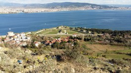 Kilitbahir'de Yer Alan Namazgah Tabyaları ve Karşı Yakada Çanakkale