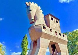 Troia Antik Kenti'ndeki Tahta At