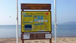 Mavi Bayraklı Çanakkale Yeni Kordondaki Barış Plajı