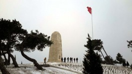 Kış Mevsiminde Conkbayırı'ndaki Yeni Zelanda Anıtı