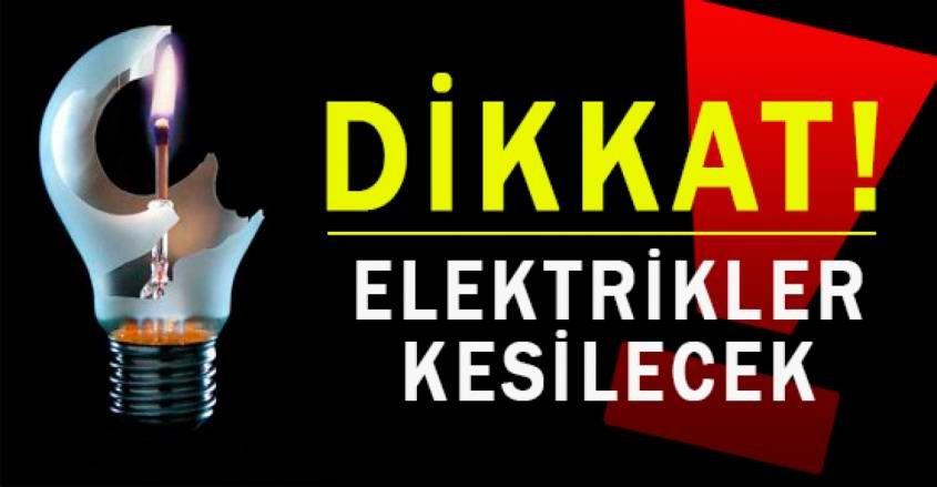 Dikkat! Çanakkale'de Elektrikler Kesilecek