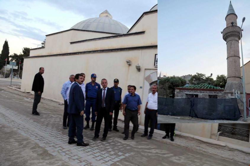 Ezine'de Seferşah Camii'nin Restorasyonu Devam Ediyor