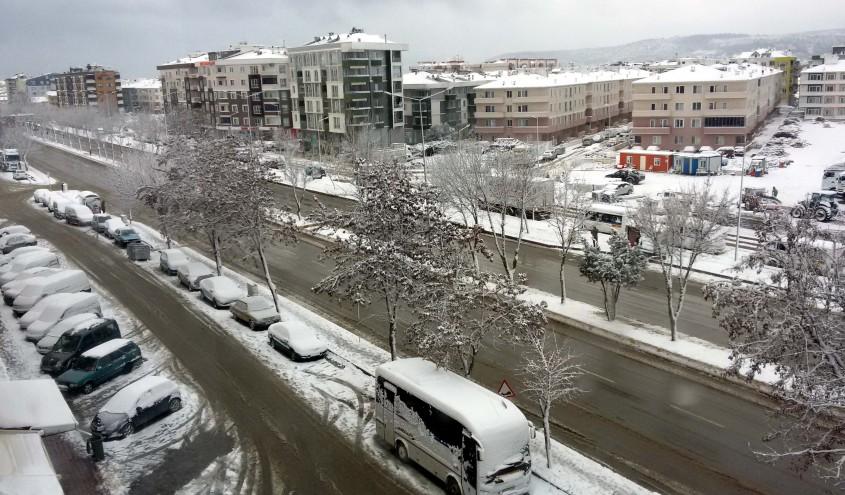 Çanakkalelilere Yeni Yılda Kar Sürprizi