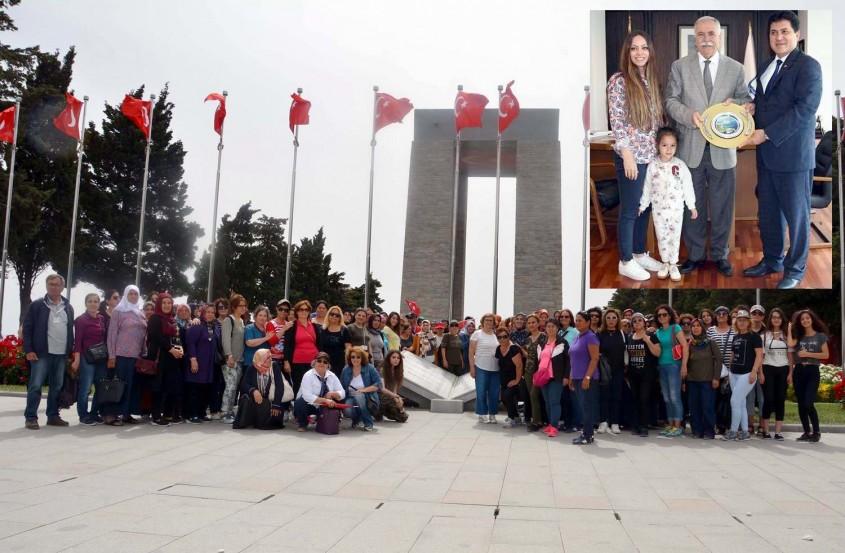 Antalya Kemer'den Bin 200 Anne Çanakkale'de Şehitlikleri Gezdi