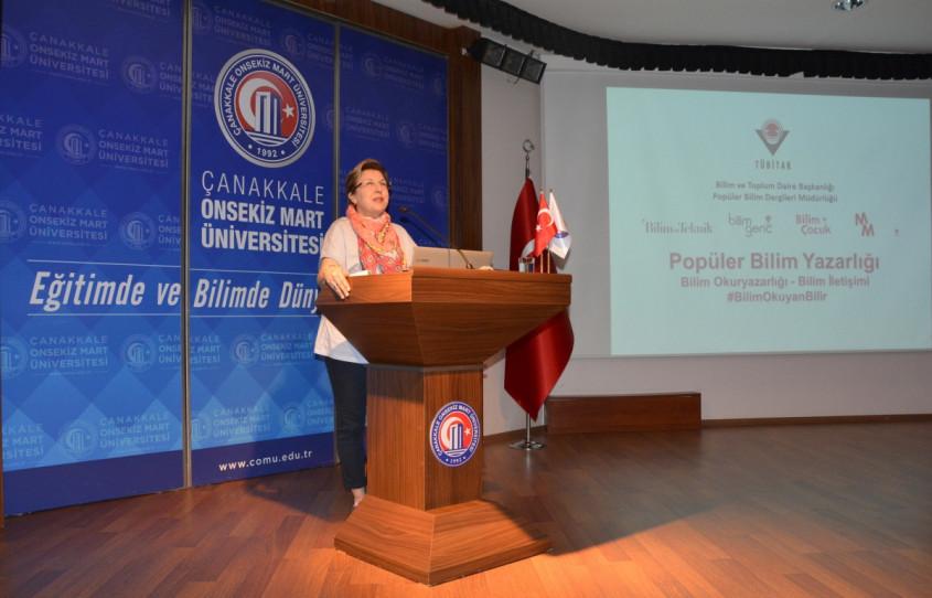 """TÜBİTAK """"Popüler Bilim Yazarlığı """"Söyleşisi ÇOMÜ'de Gerçekleştirildi"""