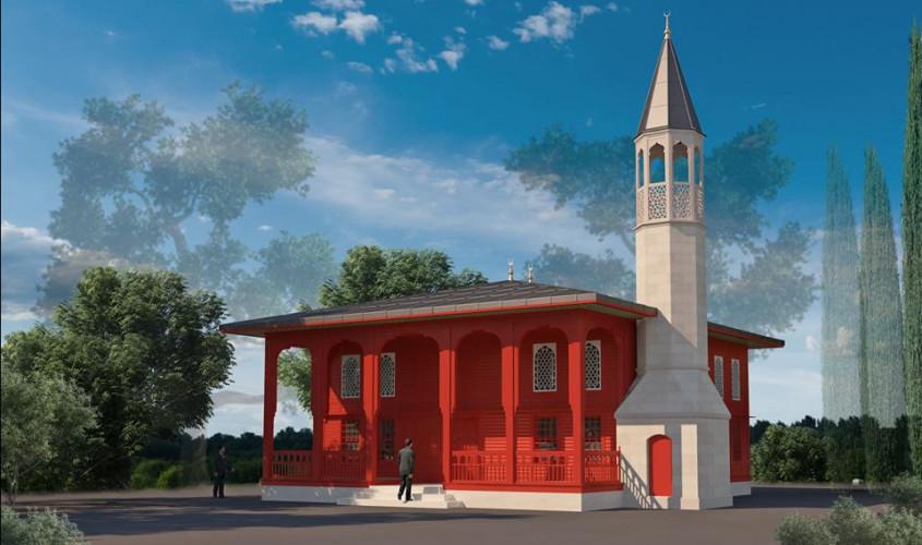 Şehitler Abidesi'ne Ahşap Cami Yapılıyor