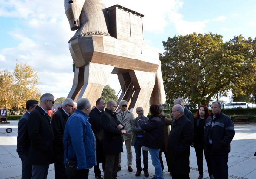 ÇTSO Meclis Üyeleri Troia Ören Yerini Ziyaret Etti