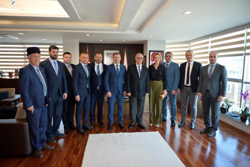 Ukrayna Heyetinden Başkan Gökhan'a Ziyaret